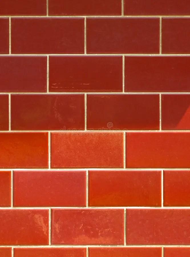 red ceramic brick tile wall colorful