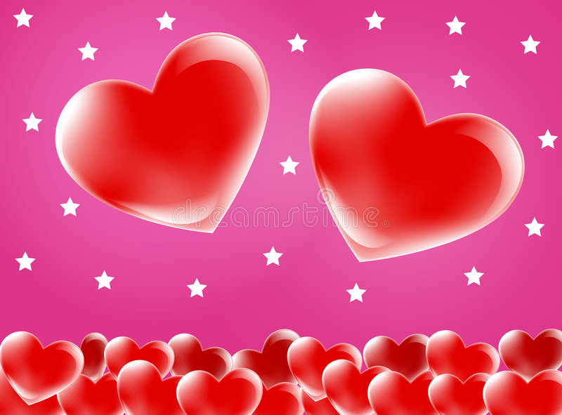 Red Love Heart Background Stock Vector. Illustration Of