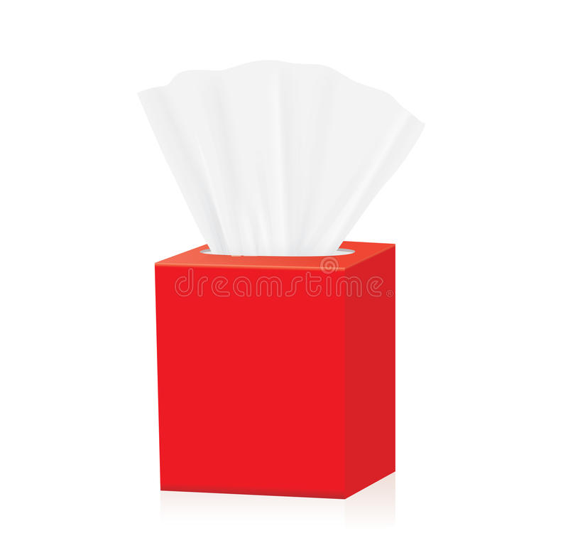 Download Red Tissue box mock up stock vector. Illustration of ...