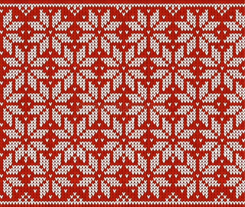 Red Nordic Snowflake Patterns