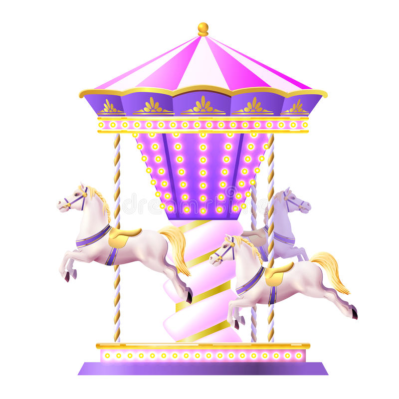 Retro Carousel Illustration Stock Vector Image 60731896