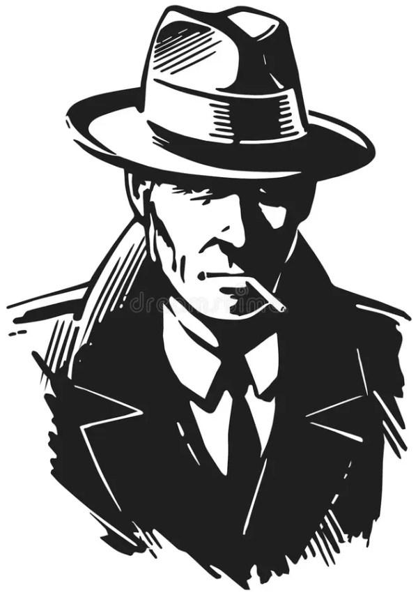 Retro Detective stock illustration. Illustration of crime ...