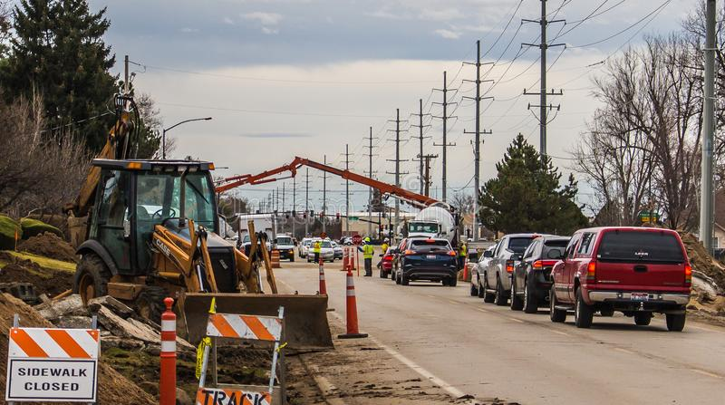 Road Construction In Boise Idaho Editorial Photography
