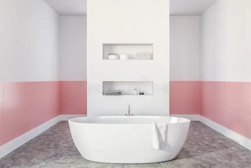 rose baignoire illustration stock