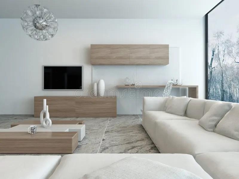salon blanc moderne avec les meubles en