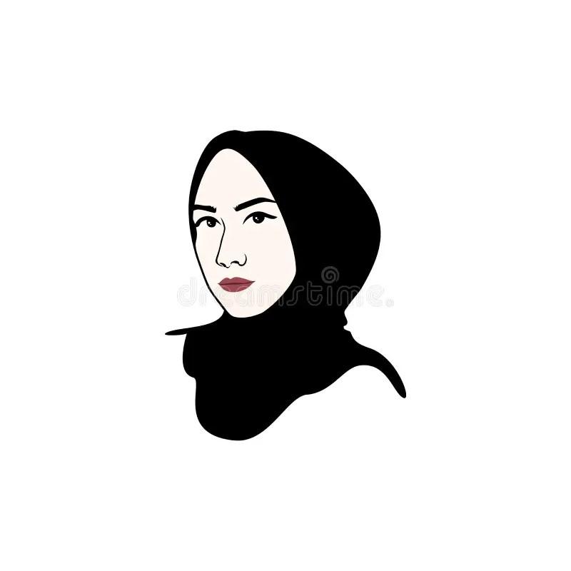 Hijab badeanzug 2er set, islamische bademode, muslimische bademode, hijab badeanzug. Sch?ner Moslemischer M?dchen Hijab-Vektor-Entwurf Logo ...