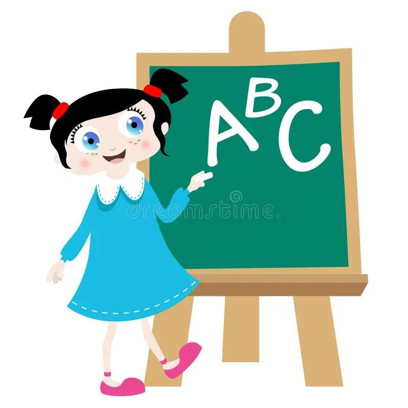 Nervous Cartoon School Characters