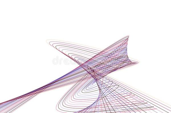 Shape Of Line & Curve, Abstract Geometric Background ...