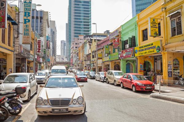 Shopping Street In Little India District Of Malaysia's ...