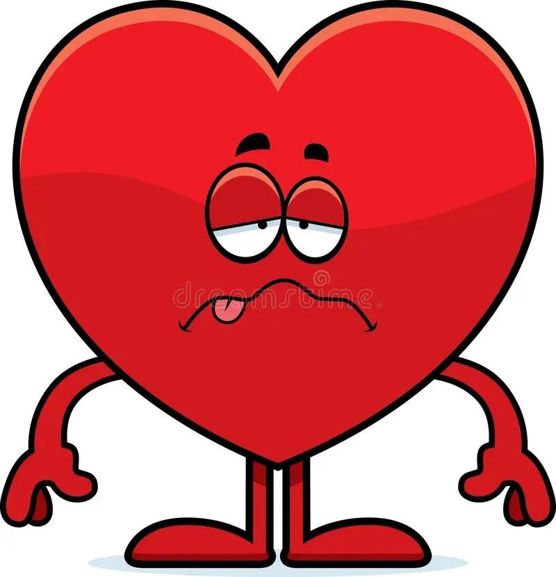 Sick Cartoon Heart Stock Vector Image Of Nauseous Love