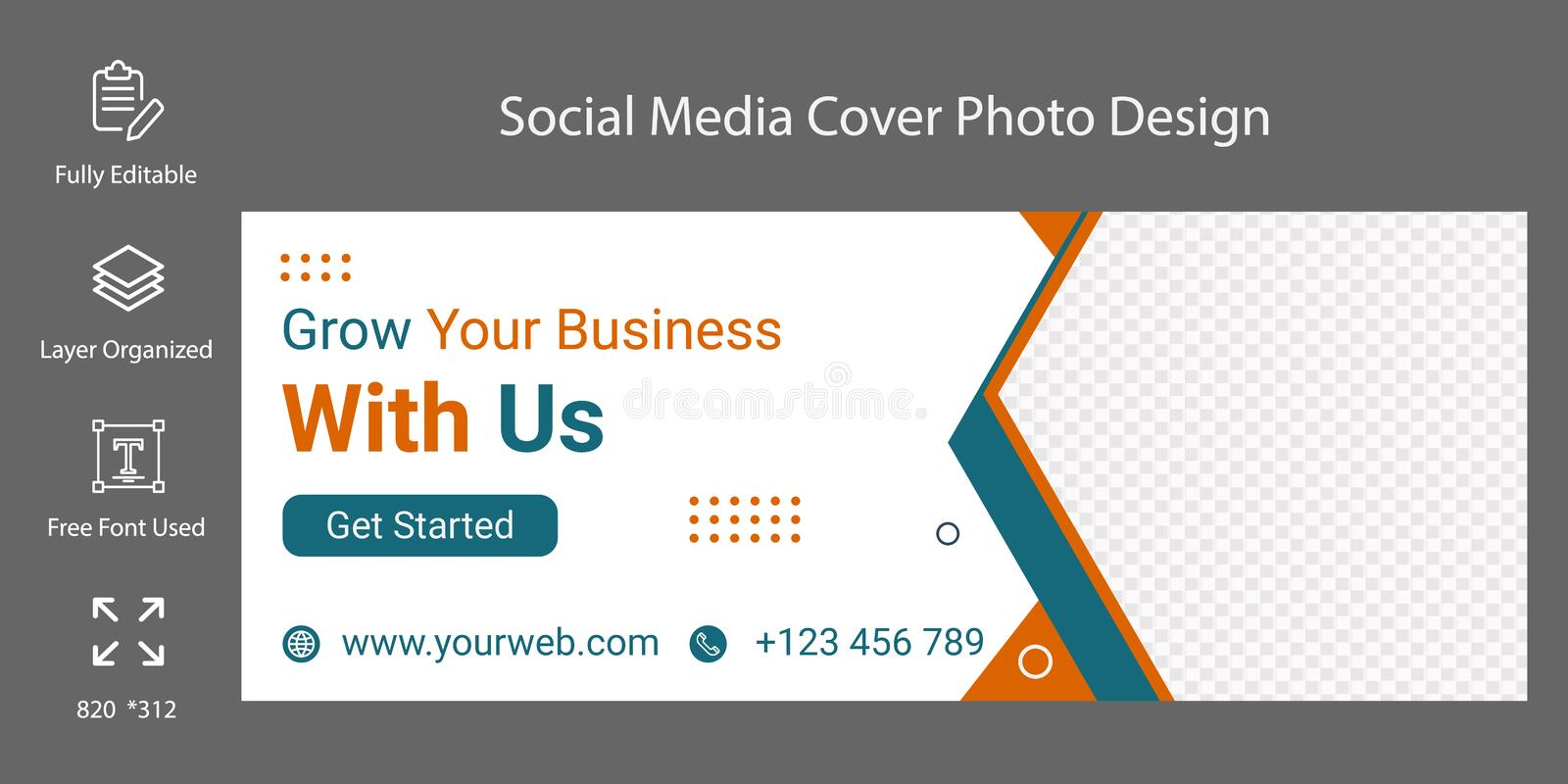 Premium document designs for creating professional ads. Social Media Cover Template Fully Editable Or Advertising Design Stock Photo Image Of Professional Creative 213214750
