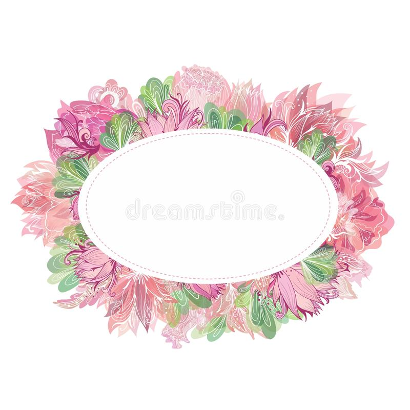 Oval Picture Frame Template Vector Frameswalls