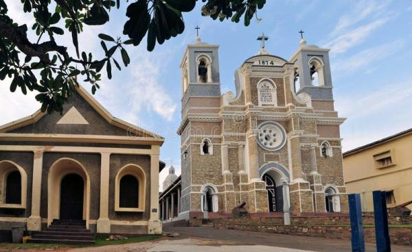 St. Mary's Christian Cathedral, Galle Sri Lanka Stock ...