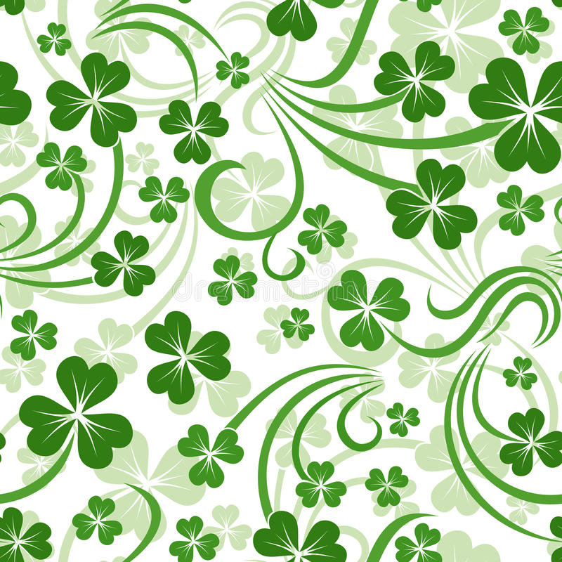 Vector Seamless Background With Shamrock Royalty Free