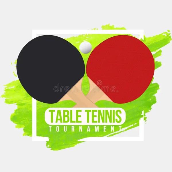 Table Tennis Tournament Badge Design. Ping Pong ...