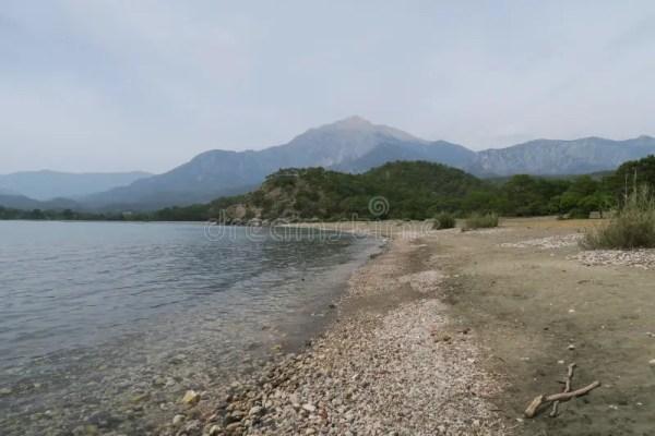 Tahtali Dagi - Olympos - гора как увидено от побережья в ...