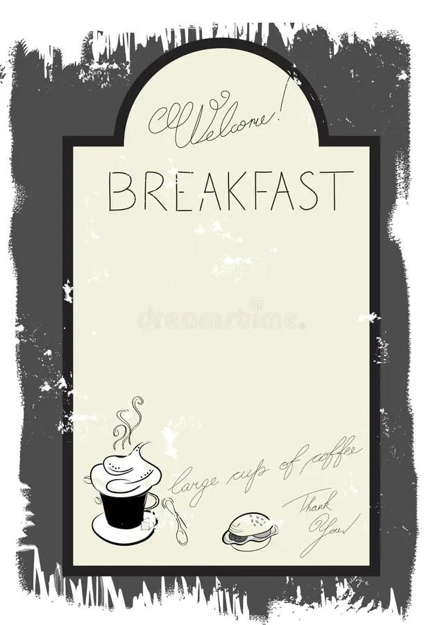 Template For Breakfast Menu Stock Vector Illustration Of Menu Grain 15037347