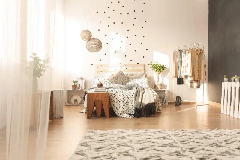 Trendy bedroom interior stock image. Image of pastel ... on Trendy Bedroom  id=32285