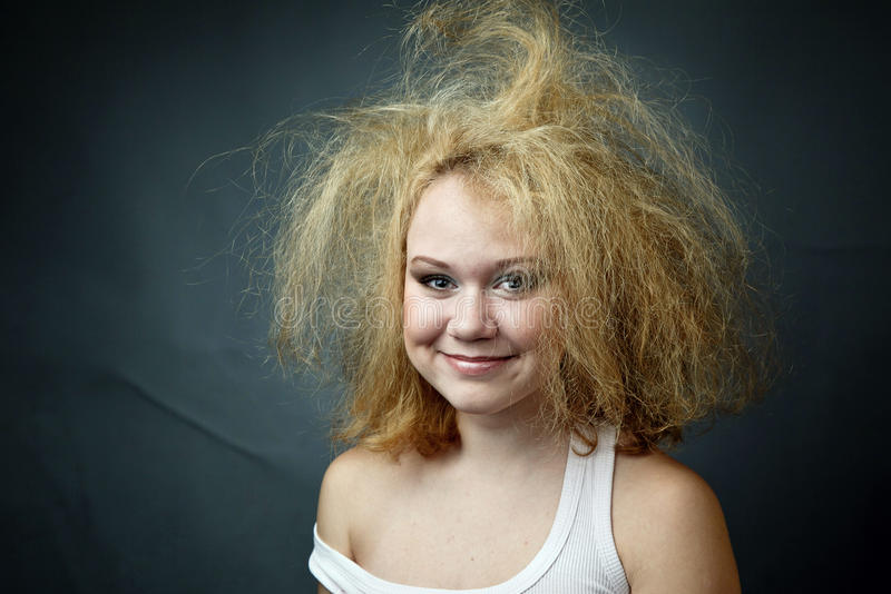 Unkempt Funny Woman Stock Image Image Of Style Face