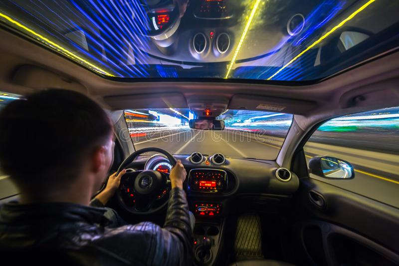 Driving Speed Inside Car View Stock Images Download
