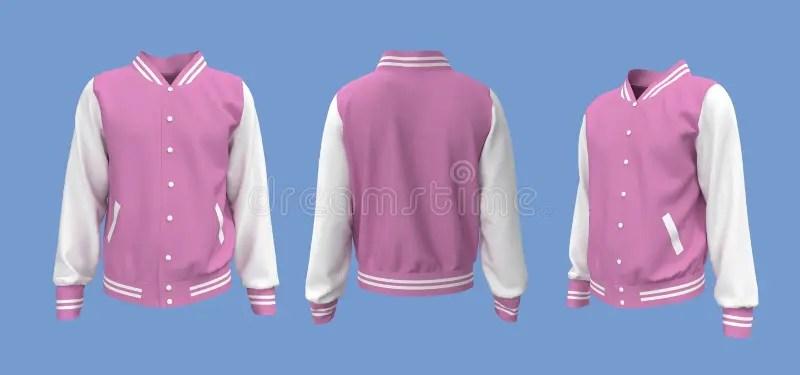 Mens varsity jacket mock up. by nessaural in miscellaneous $9. Varsity Jacket Mockup In Front Side And Back Views Stock Illustration Illustration Of Mock Back 202760233