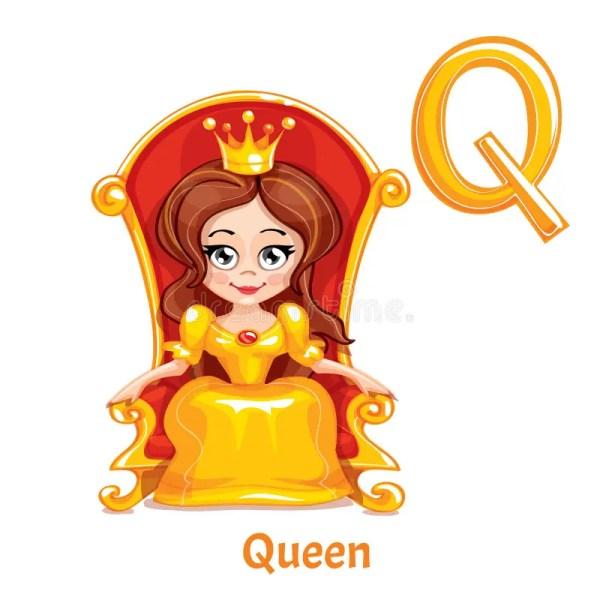 Vector Alphabet Letter Q. Queen. Stock Vector ...