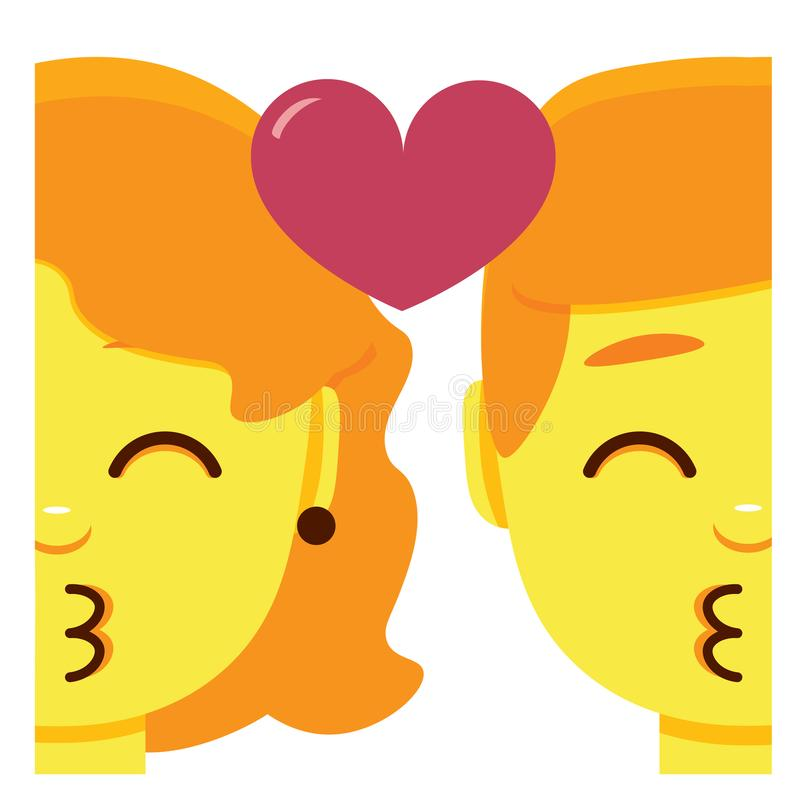 Download Cartoon Cute Couple Kissing Stock Illustrations - 1,294 ...