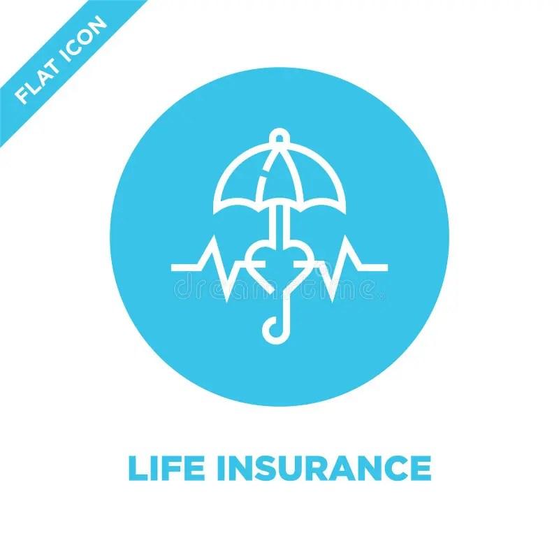 Tú eliges las coberturas que quieras contratar y el monto de tu seguro. Vector Del Icono Del Seguro De Vida De La Colecci?n Del