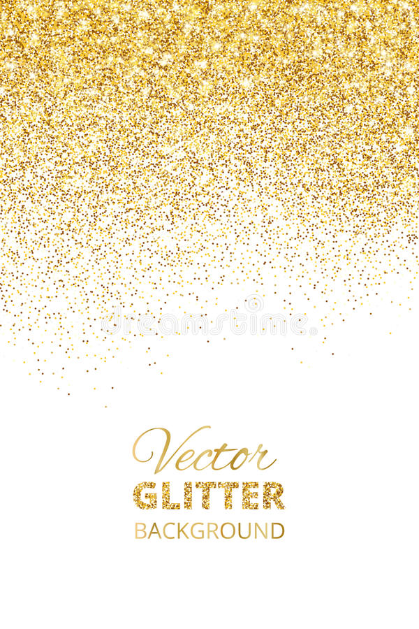 Vector Illustration Of Falling Glitter Confetti Golden