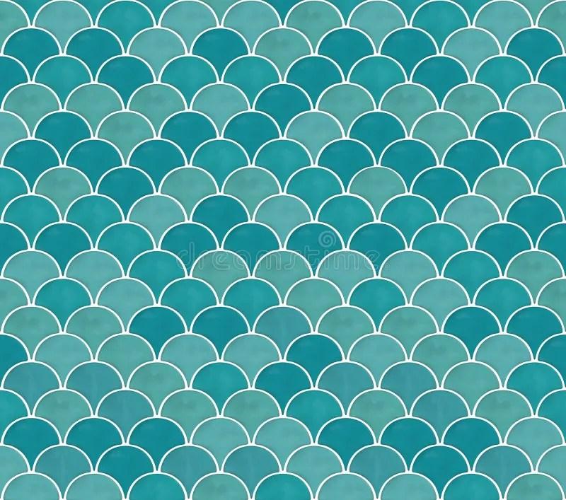 vector marine green seamless mermaid