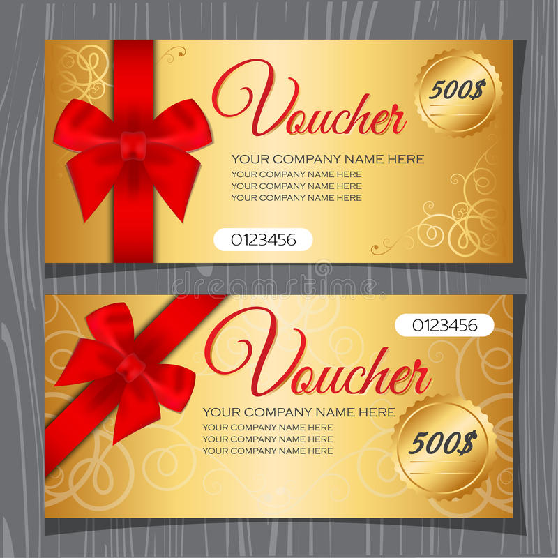 Voucher Template Gift Certificate Stock Image Image Of