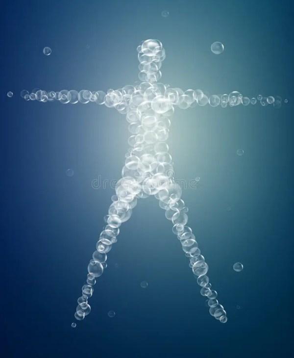 Weightless Feeling, Man Soul Concept, Light Feeling Inside ...