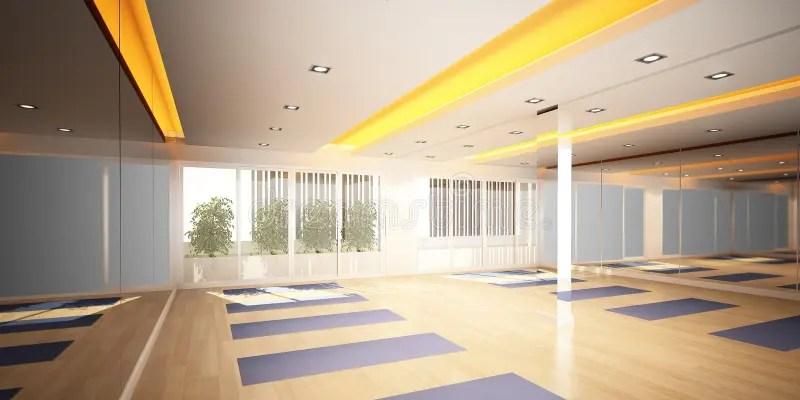Yoga Room 3d Interior Design Stock Illustration Illustration Of Blueprint Prints 46787104