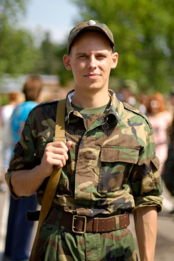 Young soldier stock image. Image of duty, soldier, service ...