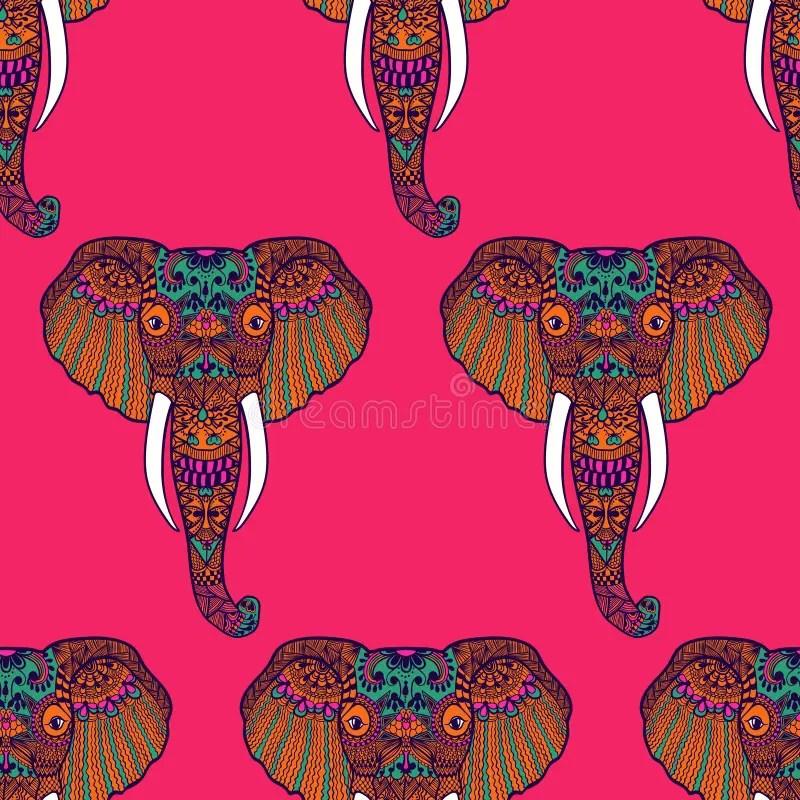Zentangle Stylized Indian Elephant Hand Drawn Stock