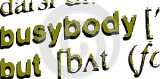 Focus on the word busybody isolated