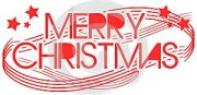 Written Merry Christmas in english isolated