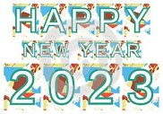 Colorful happy new year 2023 background