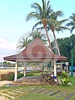 Pavilion at Sentosa island beach