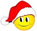 Weihnachtssmiley Gesicht Stockfoto Bild 17056660