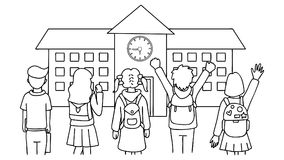 Hand Gezeichnete Kinder Stock Abbildung Illustration Von