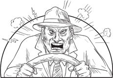 Free Angry Driver In Mad Road Rage Stock Photos - 95291073