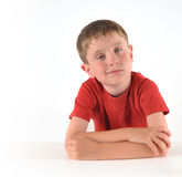 Young Boy With Thinking About Question Stock Image - Image ...
