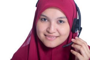 Image result for customer service muslimah