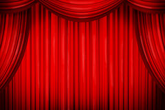 Closed Curtains In Theater Of Similar Place Stock Ilration