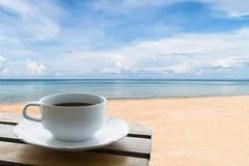 café e praia