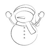 Snowman Stock Vector Image Of Graphic Carrot