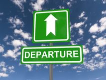 Departure sign Stock Image