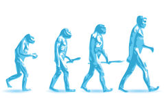 Human evolution Royalty Free Stock Image