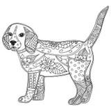 Rottweiler Hund Zentangle Gekritzel Stilisierte Kopf Die